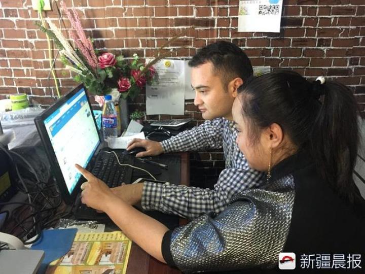 """从上海回和田成功创业,这对""""90后""""小夫妻要教农民玩电商"""